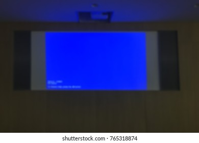 Blur screen in the meeting room.
