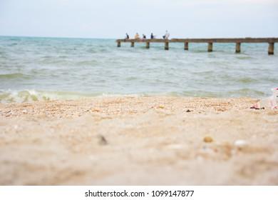 blur sea background
