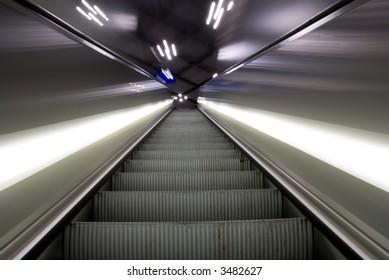 Blur shot of escalator , background