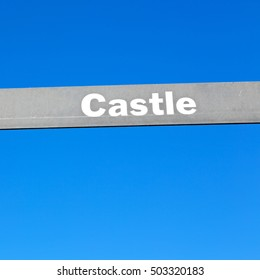 blur in south africa close up of the castle sign like    texture background