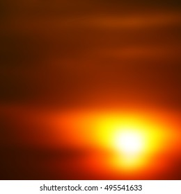 blur  in south africa red sunset in the cloud like abstract background
