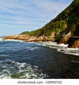blur  in south africa     sky ocean    tsitsikamma reserve  nature and rocks
