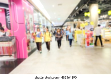 Blur store background in shopping mall