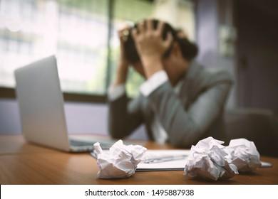 Blur of stressful business women