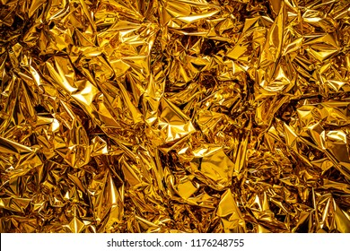 Blur Texture of the gold leaf, Gold background
