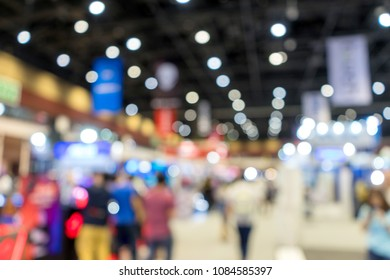 blur trade fair show exhibition hall for background concept