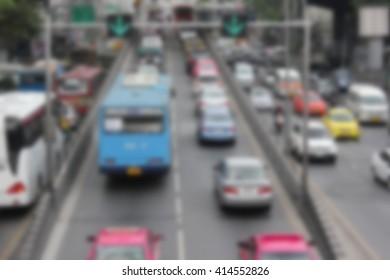 blur traffic/ traffic jam/ blur car