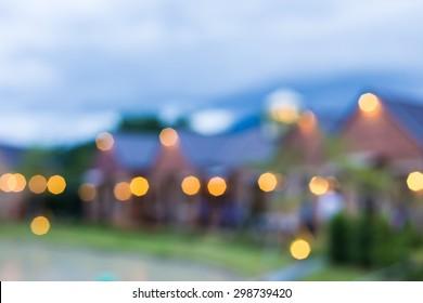 blur village background.