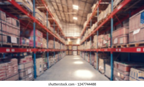 Blur Warehouse inventory for logistics background. 16:9