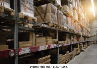 Blur Warehouse inventory product stock for logistic