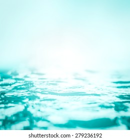 Blur Water Background Wavy Clean Fresh Water In Light Cool Cyan Turquoise  Blue Green Vintage Color Photo Gallery