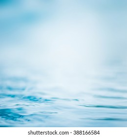 Blur water background wavy clean fresh water in light cool cyan turquoise blue green vintage color