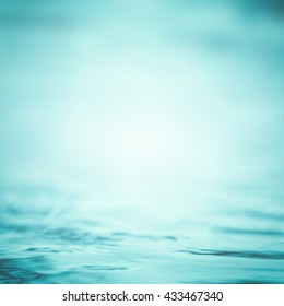 Blur Water Background Wavy Clean Fresh Water In Light Cool Cyan Turquoise  Blue Green Vintage Color Nice Look