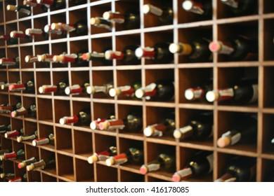 Blur wine shelf