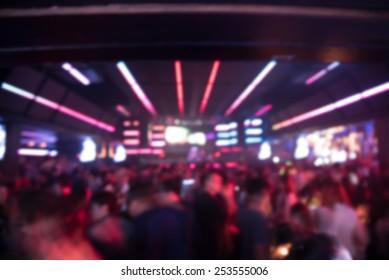 blured background night scene in party night club