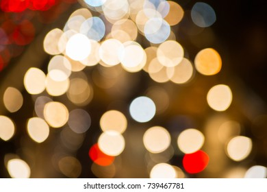 Blured with bokeh of traffic light on road,can be use for background