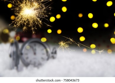 Blured christmas holidays photo. Christmas concept. Five minutes to celebration