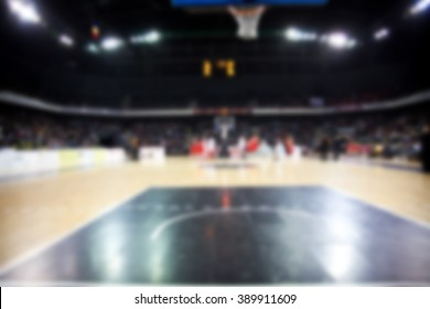 blured image of basketball court