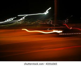Blured night lights abstract  picture