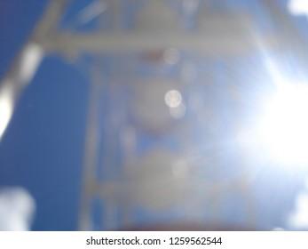 blured playground gigantic whell