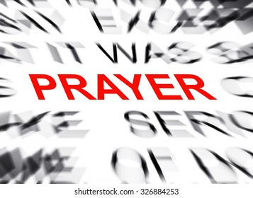 Blured text with focus on PRAYER