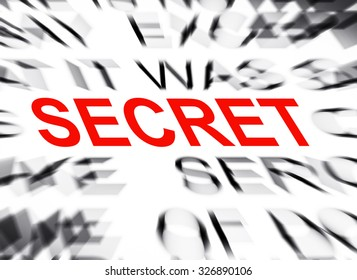 Blured text with focus on SECRET
