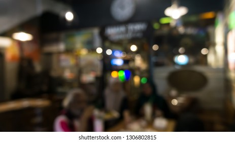 Blurr image of a restaurant environment
