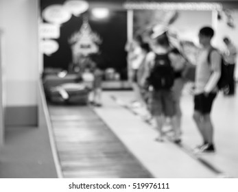 Blurred abstract background of  in airport