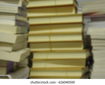 blurred abstract background books stacked