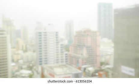 Blurred abstract background of Building in city