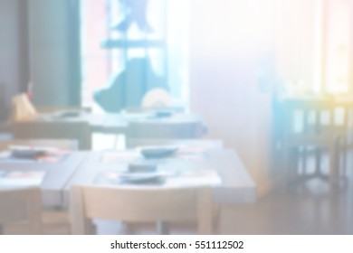 Blurred abstract background and can be illustration to article of restaurant