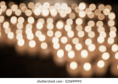 Blurred abstract background of candlelight