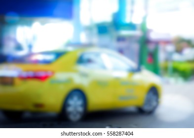 Blurred abstract background of filling station