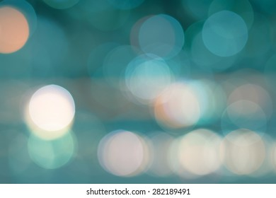 Blurred abstract background with light bokeh of a scenic view of Bangkok cityscape at night
