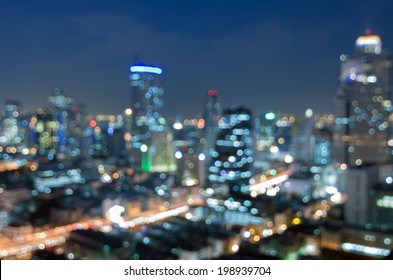 Blurred abstract background lights, beautiful cityscape view.
