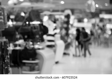 Blurred abstract background of In the mall