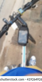 Blurred abstract background of Man riding bicycle