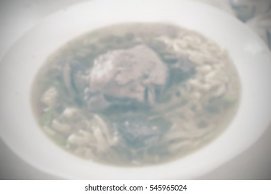 Blurred abstract background of noodle