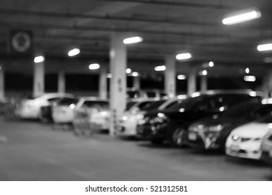 Blurred abstract background of Parking