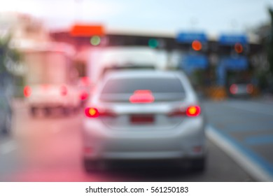Blurred abstract background of Pay tolls