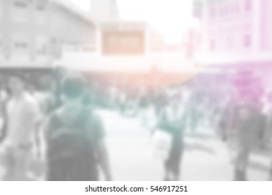Blurred abstract background of Pedestrian crossing