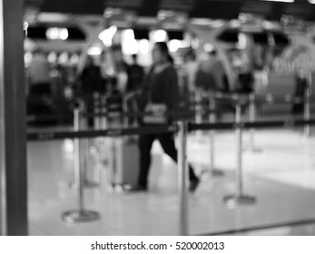 Blurred abstract background of people in airport