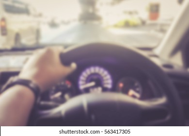 Blurred abstract background of People driving