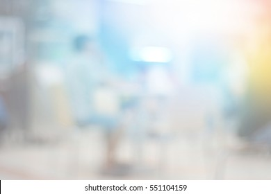 Blurred abstract background of People at Food Fair