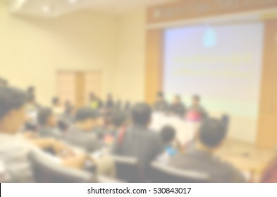 Blurred abstract background of  People Meeting Conference Seminar