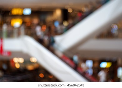 Blurred abstract background of In The Shopping Mall