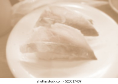 Blurred abstract background of sushi