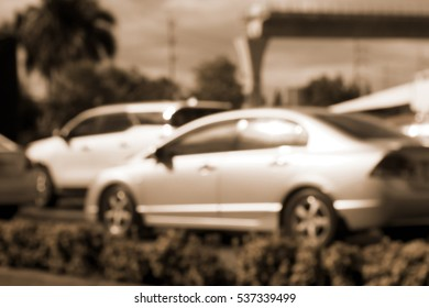 Blurred abstract background of Traffic