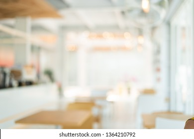 blurred abstract coffee shop background with copyspace