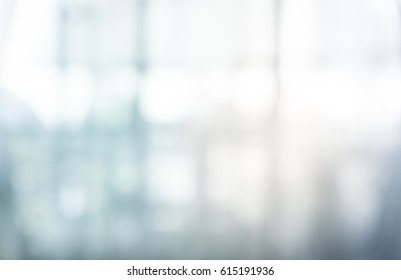 Blurred abstract glass wall building background.
